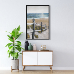 Framed 24 x 36 - Soft seaside