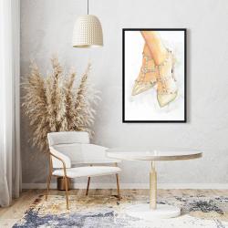Framed 24 x 36 - Studded high heels