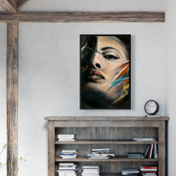 Framed 24 x 36 - Abstract woman portrait