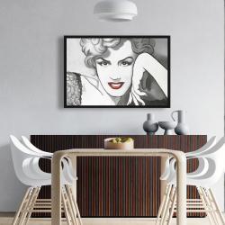 Framed 24 x 36 - Vintage style marilyn monroe