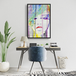 Framed 24 x 36 - Abstract colorful portrait