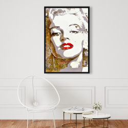 Framed 24 x 36 - Marilyn monroe with typography