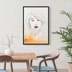 Framed 24 x 36 - Portrait in watercolor