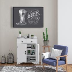 Framed 24 x 36 - Vintage beer signboard