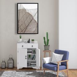 Framed 24 x 36 - Translucent dried leaves