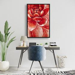 Framed 24 x 36 - Red chrysanthemum