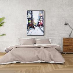Framed 24 x 36 - Time square
