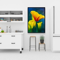 Framed 24 x 36 - Beautiful colorful flowers
