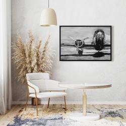 Framed 24 x 36 - Grayscale plane