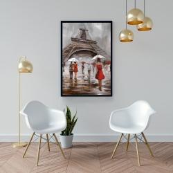 Framed 24 x 36 - Near the eiffel tower