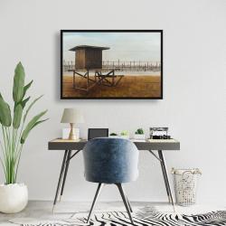 Framed 24 x 36 - Newport beach lifeguard tower