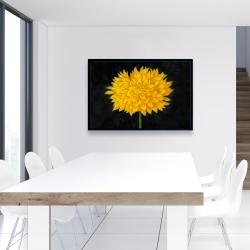 Framed 24 x 36 - Yellow chrysanthemum