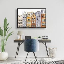 Framed 24 x 36 - Amsterdam houses hotel