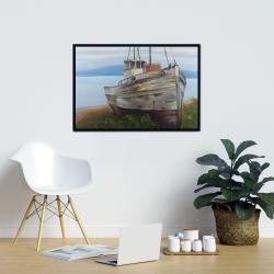 Framed 24 x 36 - Old abandoned boat