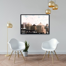 Framed 24 x 36 - Water towers