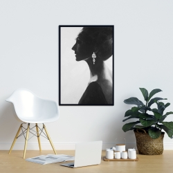 Framed 24 x 36 - Chic woman