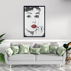 Framed 24 x 36 - Audrey hepburn outline style