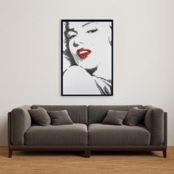Framed 24 x 36 - Marilyn monroe outline style