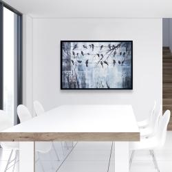 Encadré 24 x 36 - Oiseaux abstrait sur fil électrique