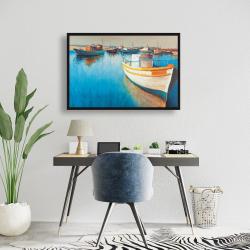 Framed 24 x 36 - Fishing boats at the marina