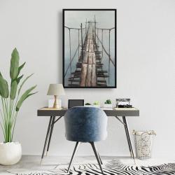 Framed 24 x 36 - Old abandoned bridge