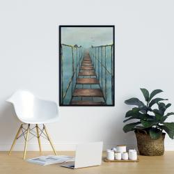Framed 24 x 36 - Old and dangerous bridge