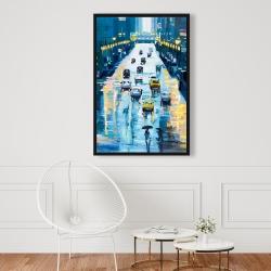 Framed 24 x 36 - Rainy streets of new york