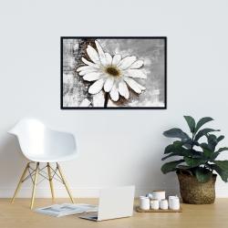 Framed 24 x 36 - Abstract daisy