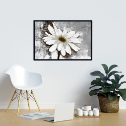 Framed 24 x 36 - Abstract daisy