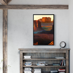 Framed 24 x 36 - Monument valley tribal park in arizona
