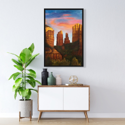 Framed 24 x 36 - Cathedral rock in arizona