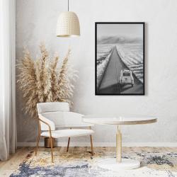 Framed 24 x 36 - Car on the road