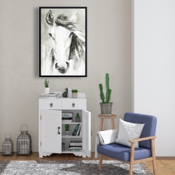 Framed 24 x 36 - Beautiful abstract horse