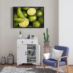 Framed 24 x 36 - Basket of limes