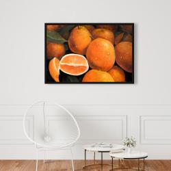 Framed 24 x 36 - Fresh oranges
