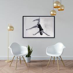 Framed 24 x 36 - Dancer on aerial silks