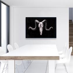 Framed 24 x 36 - Skeleton skulls grunge style
