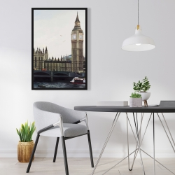 Framed 24 x 36 - Big ben clock elizabeth tower in london