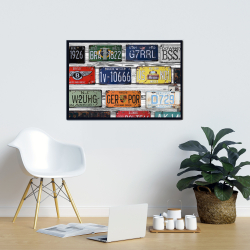Framed 24 x 36 - Number plates