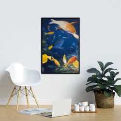 Framed 24 x 36 - Colorful fish under the sea