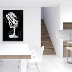 Framed 24 x 36 - Microphone