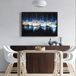 Framed 24 x 36 - Evening at the marina