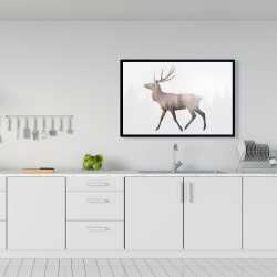 Framed 24 x 36 - Deer and forest