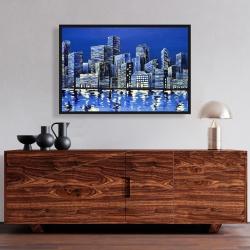Framed 24 x 36 - City in blue
