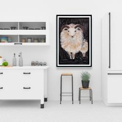 Framed 24 x 36 - Two bushy ram
