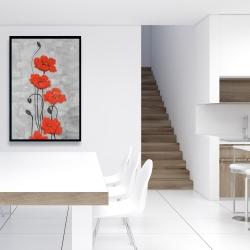 Framed 24 x 36 - Big red flowers
