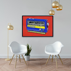 Framed 24 x 36 - Retro radio alarm