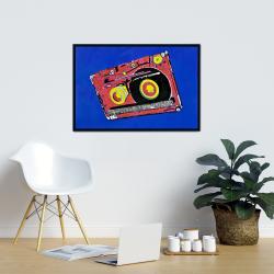 Framed 24 x 36 - Tape player