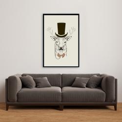 Framed 24 x 36 - Aristocrat roe deer