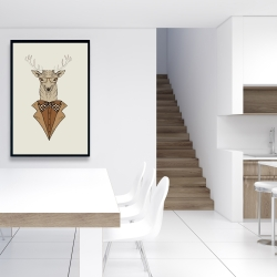 Framed 24 x 36 -  deer with brown coat